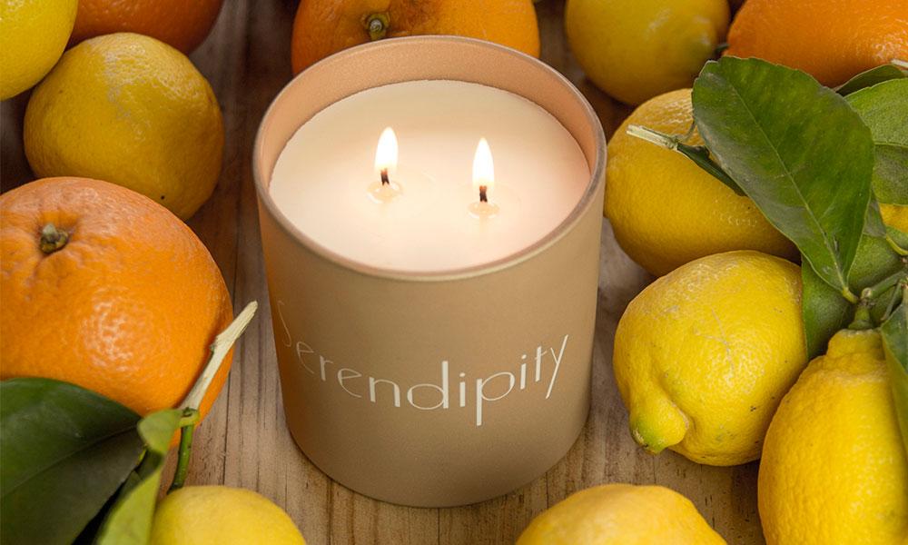 Serendipity velas aroma cítrico